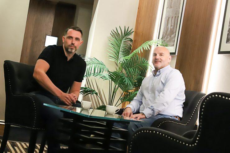 Left to right: Aero Commerce founders Matt Burton and Richard Bendelow
