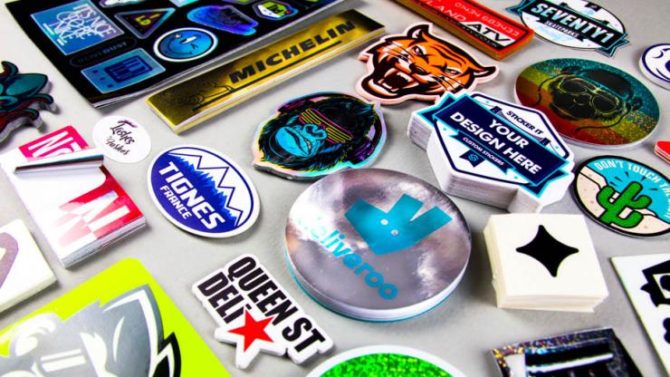 Sticker marketing for retail